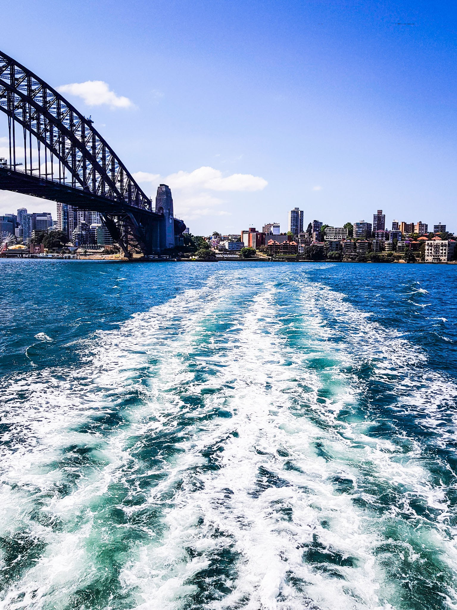 View from the Ferry.  Darling Harbour to Circular Quay  Harbour Bridge, Sydney