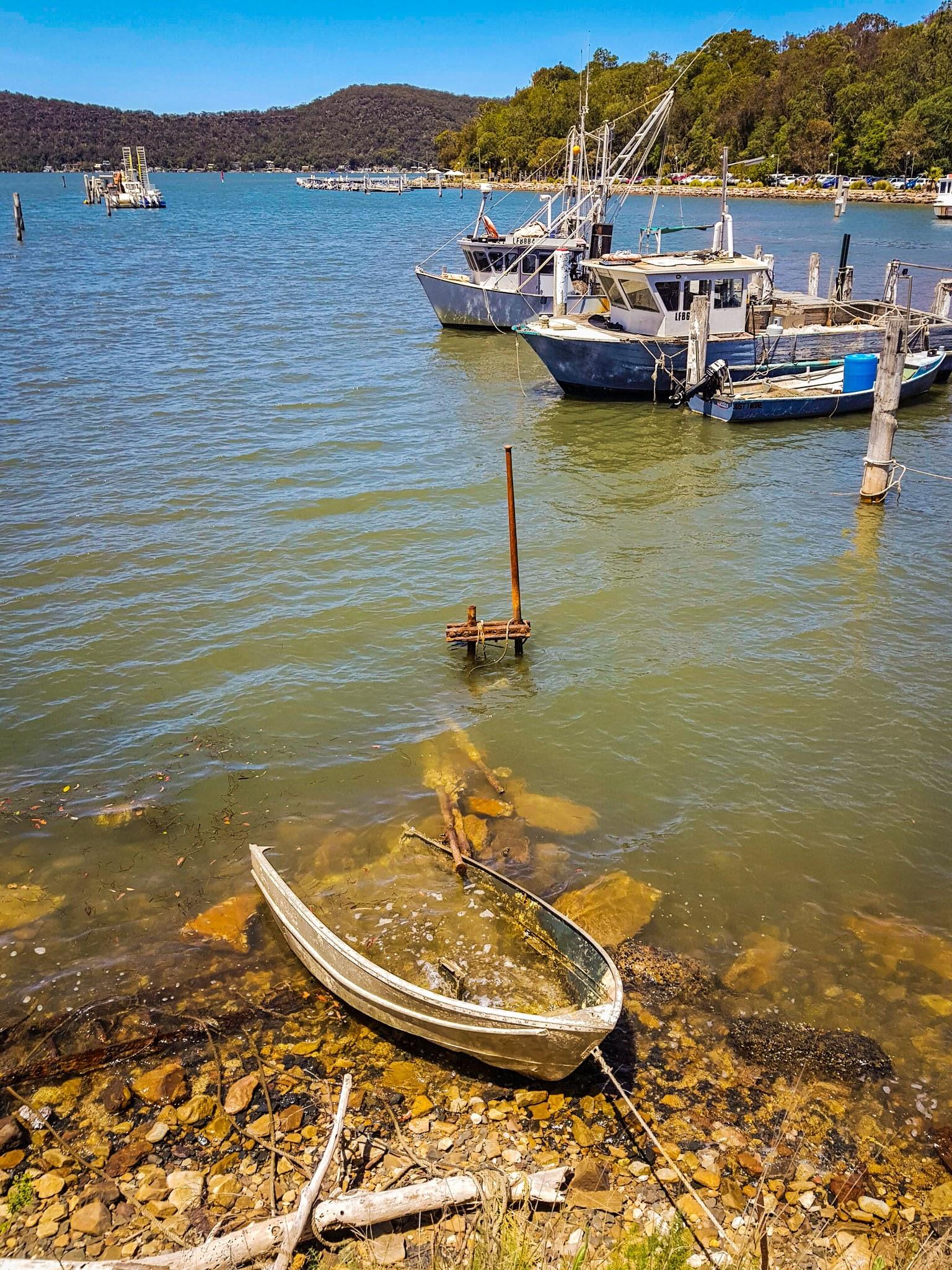 Stranded boat, Brooklyn