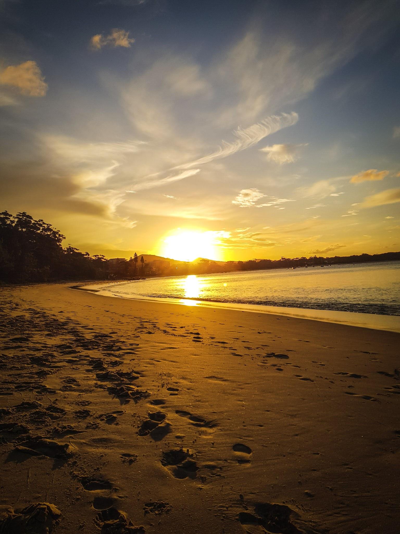 Watching the sunset.  Shoal Bay Beach, Shoal Bay  Port Stephens
