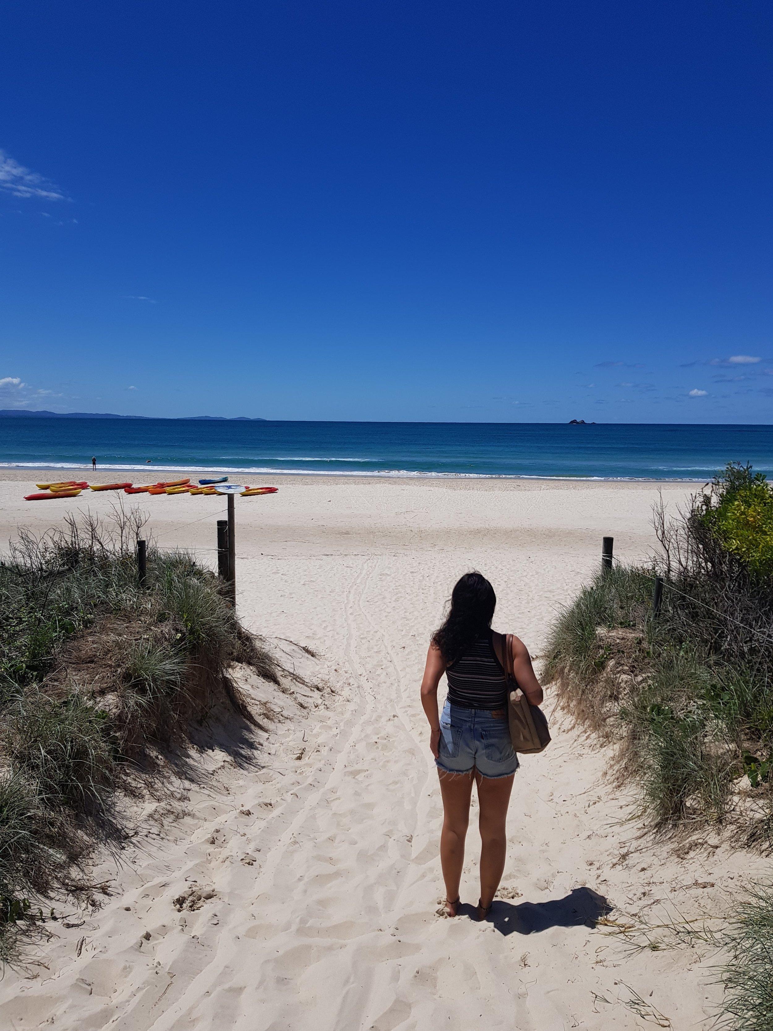 Entrance to paradise.  Tallow Beach, Byron Bay