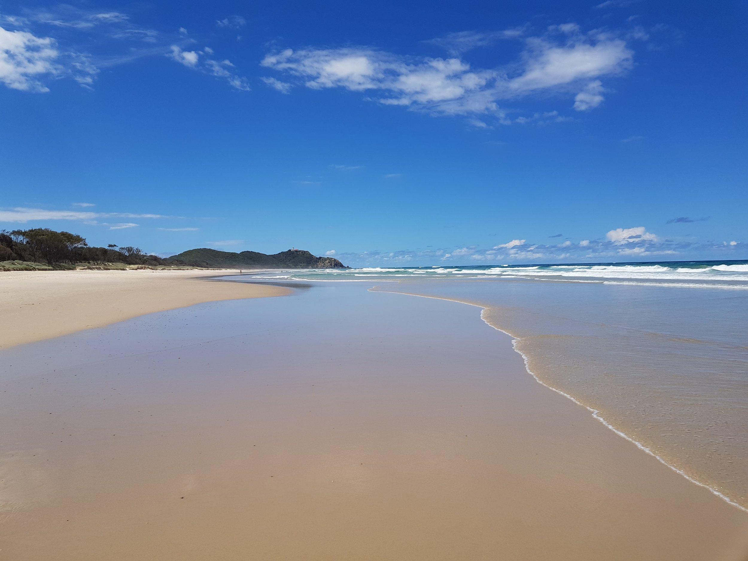 The endless beach.  Tallow Beach, Byron Bay