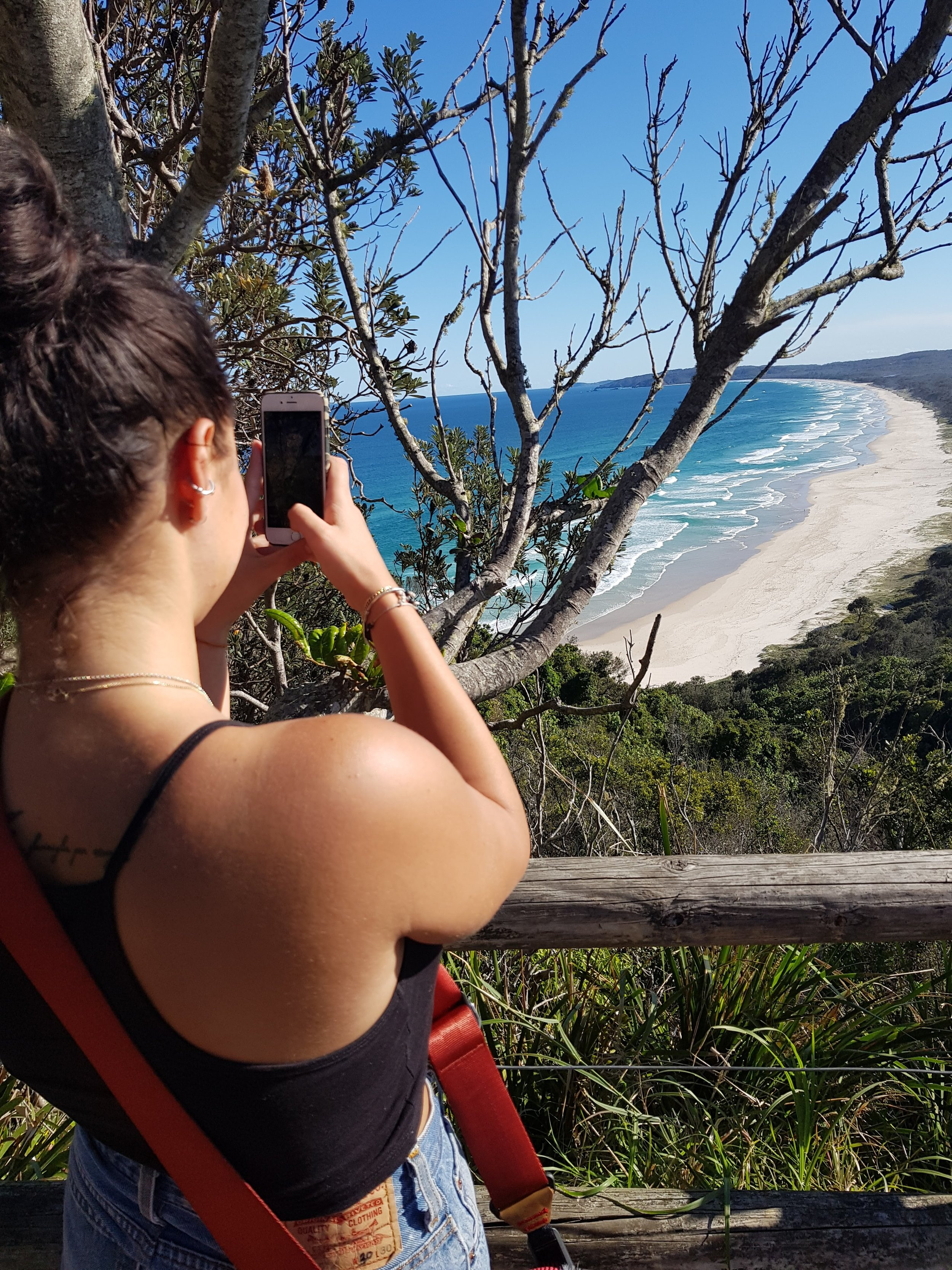 View from the lighthouse.  Tallow Beach, Byron Bay