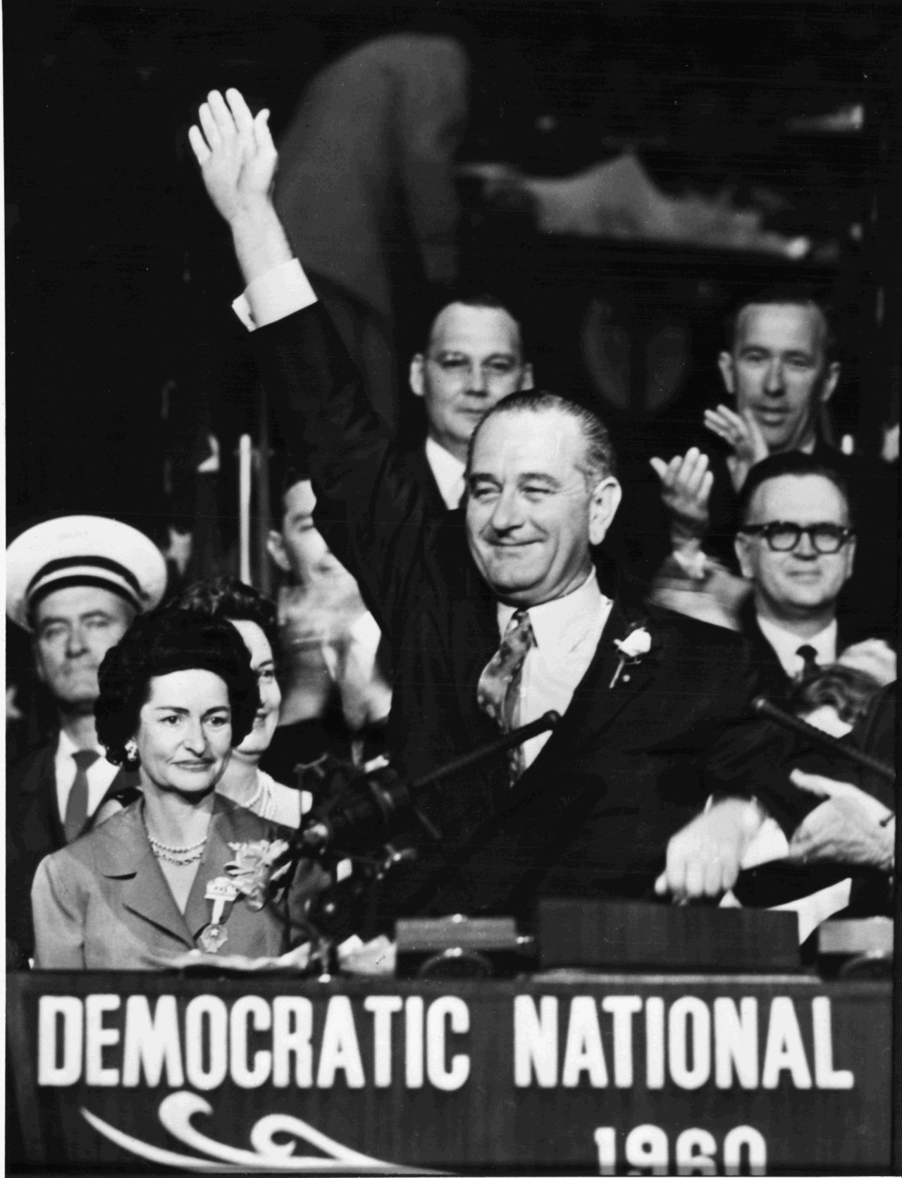 lbjlibrary :     July 16, 1960. At 6:00 pm LBJ makes his acceptance speech before the convention. He will be the Democratic candidate for Vice President.   LBJ Library photo 60-7-171. The Johnson Library has no information about the original source of this item.