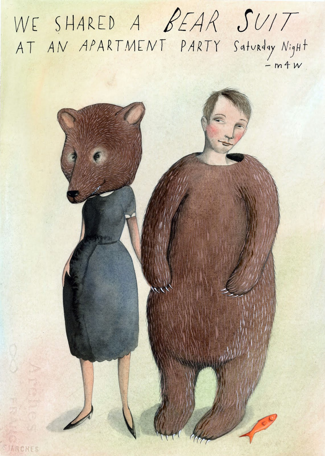 my-blueberry-nights :       Saturday, October 17, 2009     - m4w     We shared a bear suit at an apartment party on Saturday night.     I asked for your number and you gave it to me, but somehow I don't have an area code written down. I had a great time talking with you, and I don't trust Chance enough to wait until I see you in the elevators…