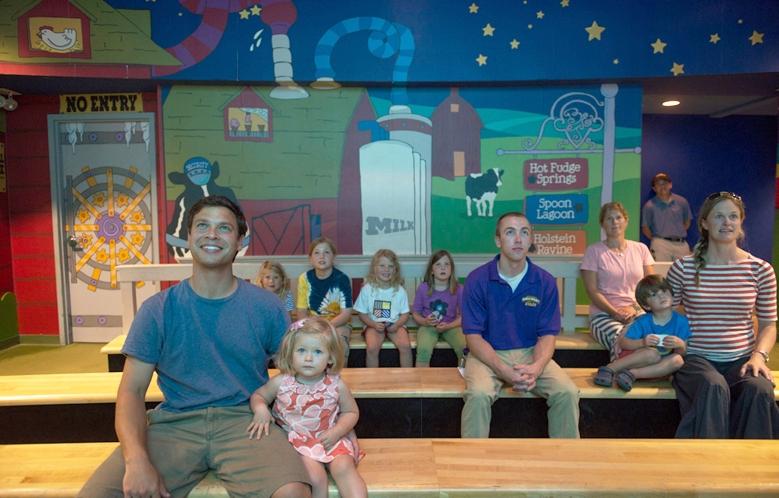 Ben and Jerry's ice cream tour screening room