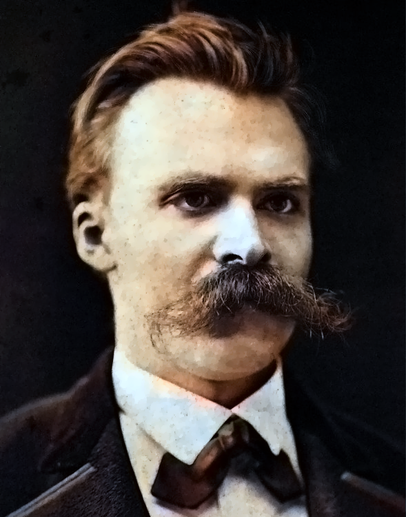 PORTRAIT OF NIETZSCHE (RE-COLORIZED WITH  THIS CODE )