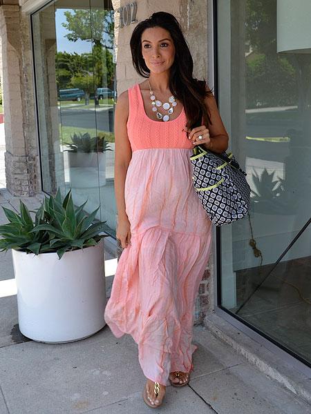 Courtney Mazza in a Liz Lange Maxi Dress