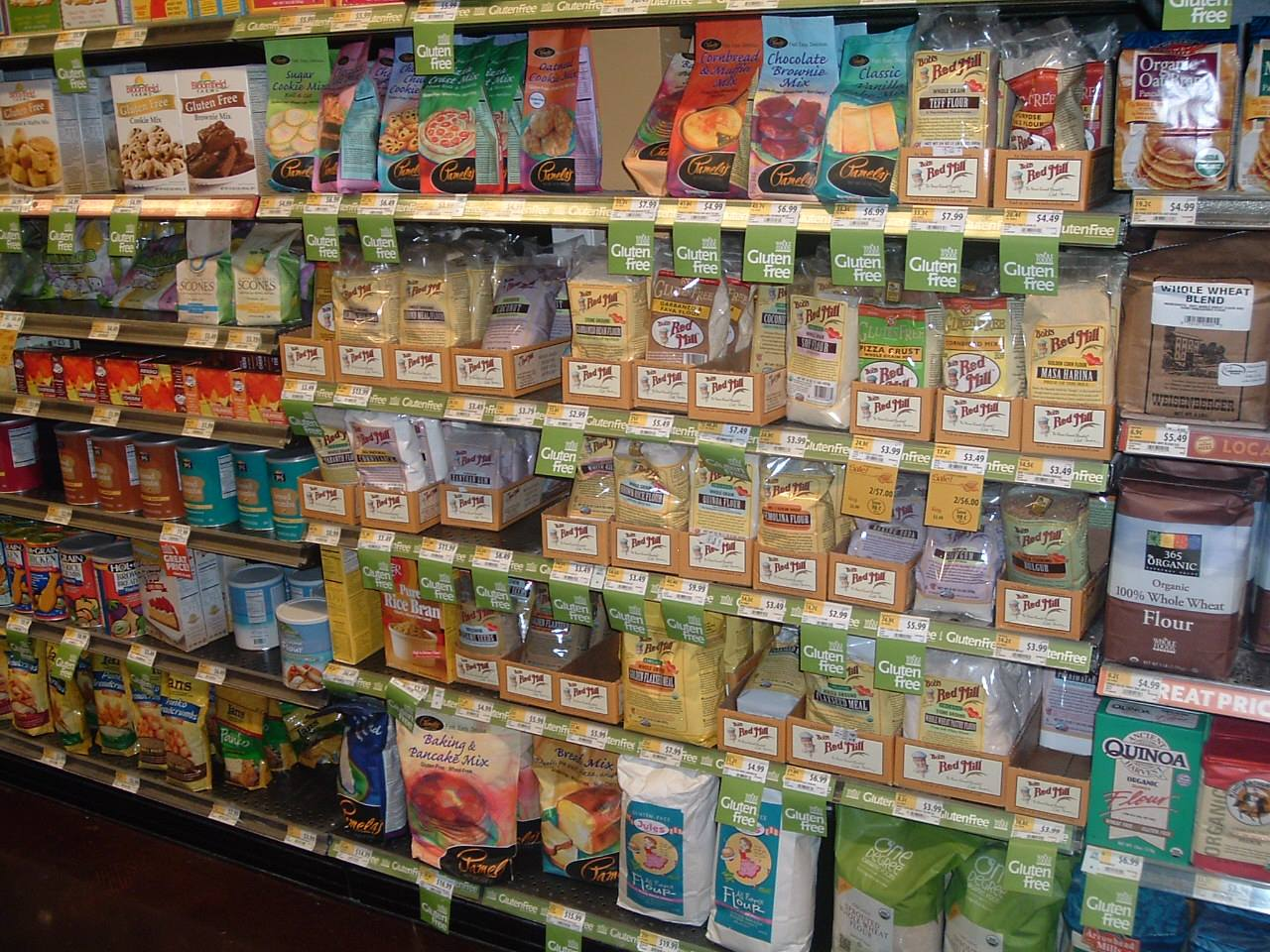 When it comes to variety and selection in gluten free products, Whole Foods Market rules Lexington! What you see here is just the tip of the iceberg. Every aisle of the store is loaded with gluten free foods!