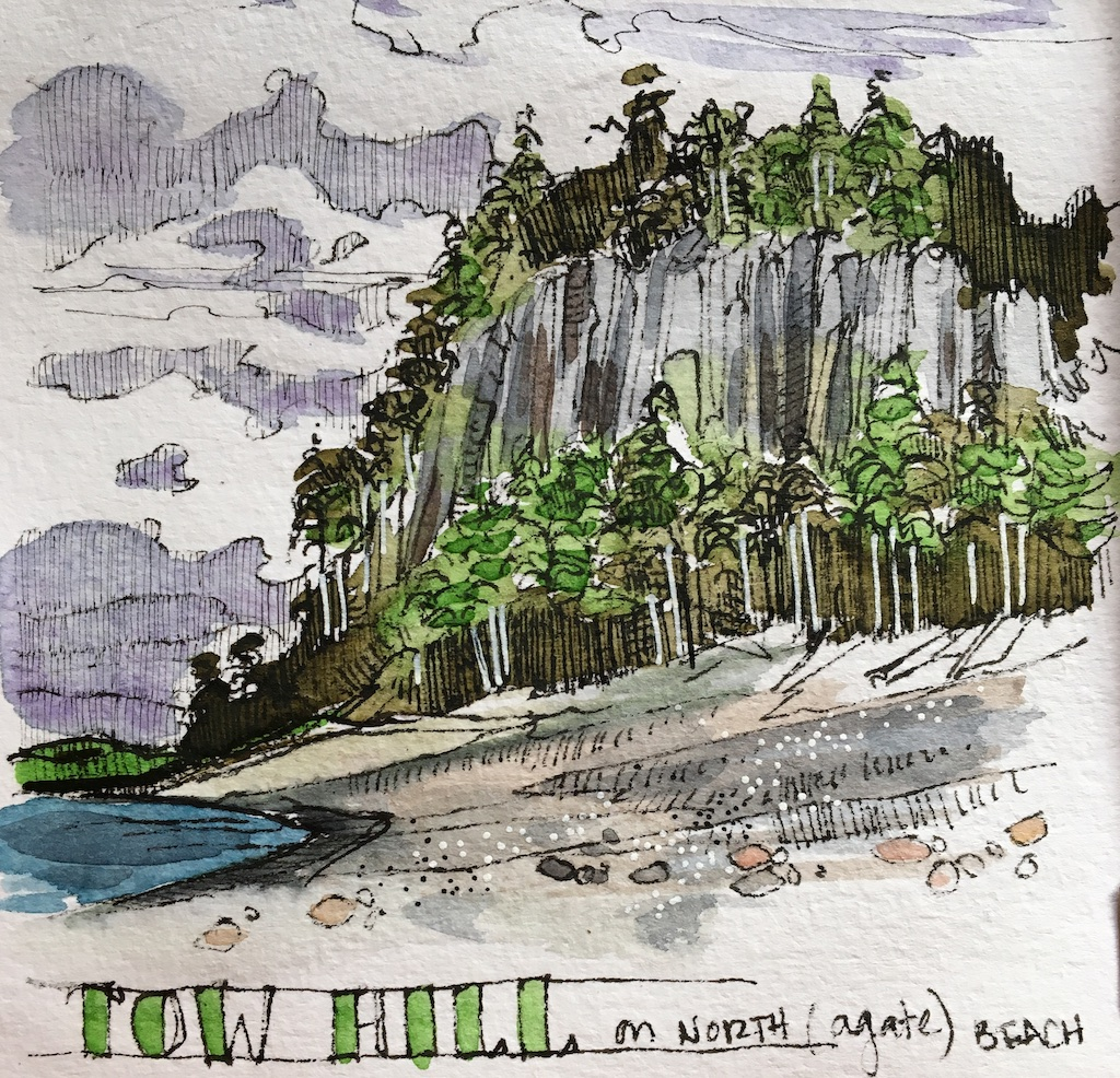 detail of tow hill sketch