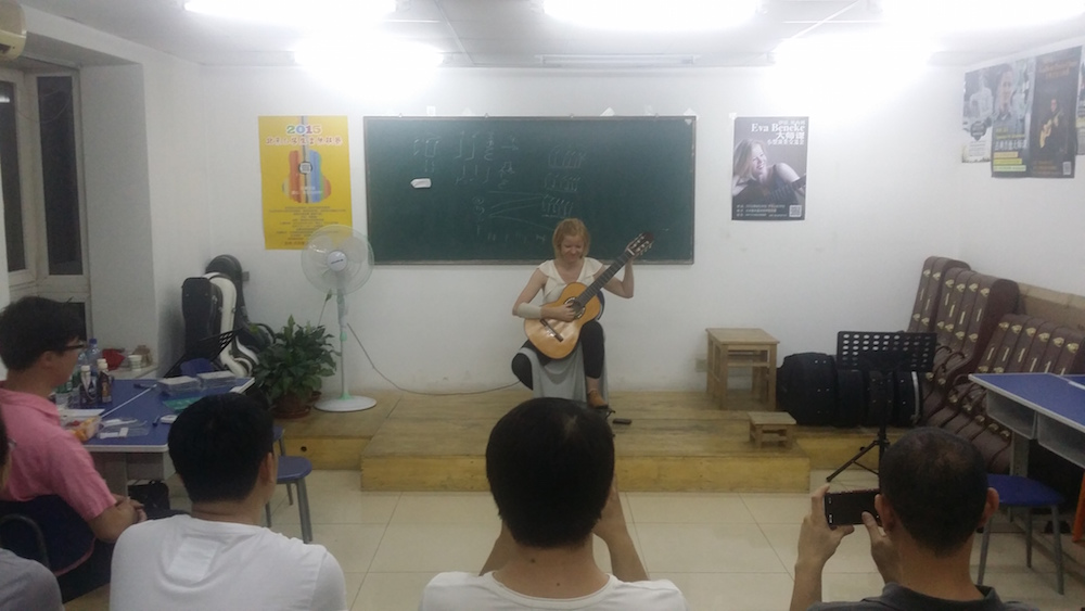 Eva playing in Beijing
