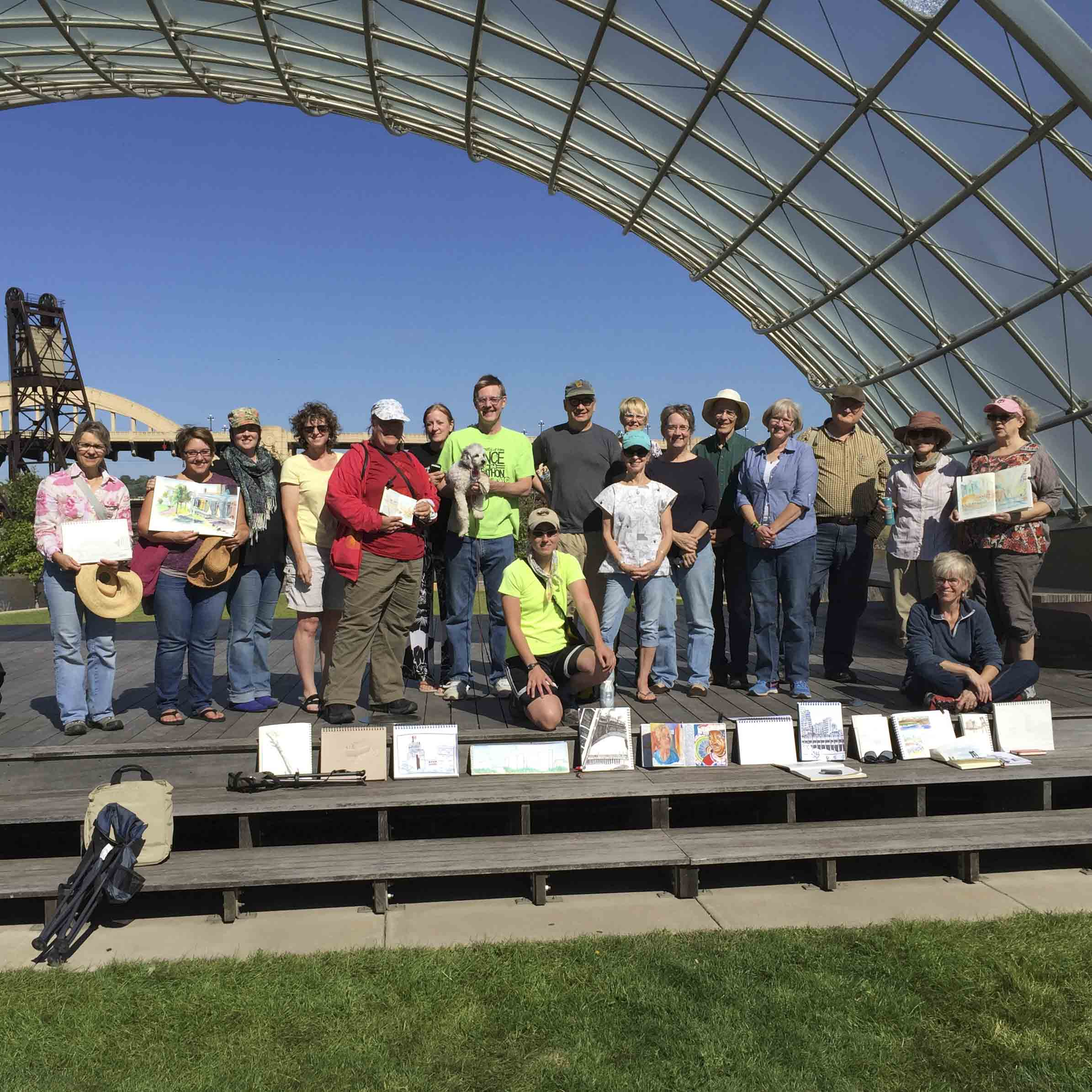 Here is the group from the September Sketch at Raspberry Park in Saint Paul