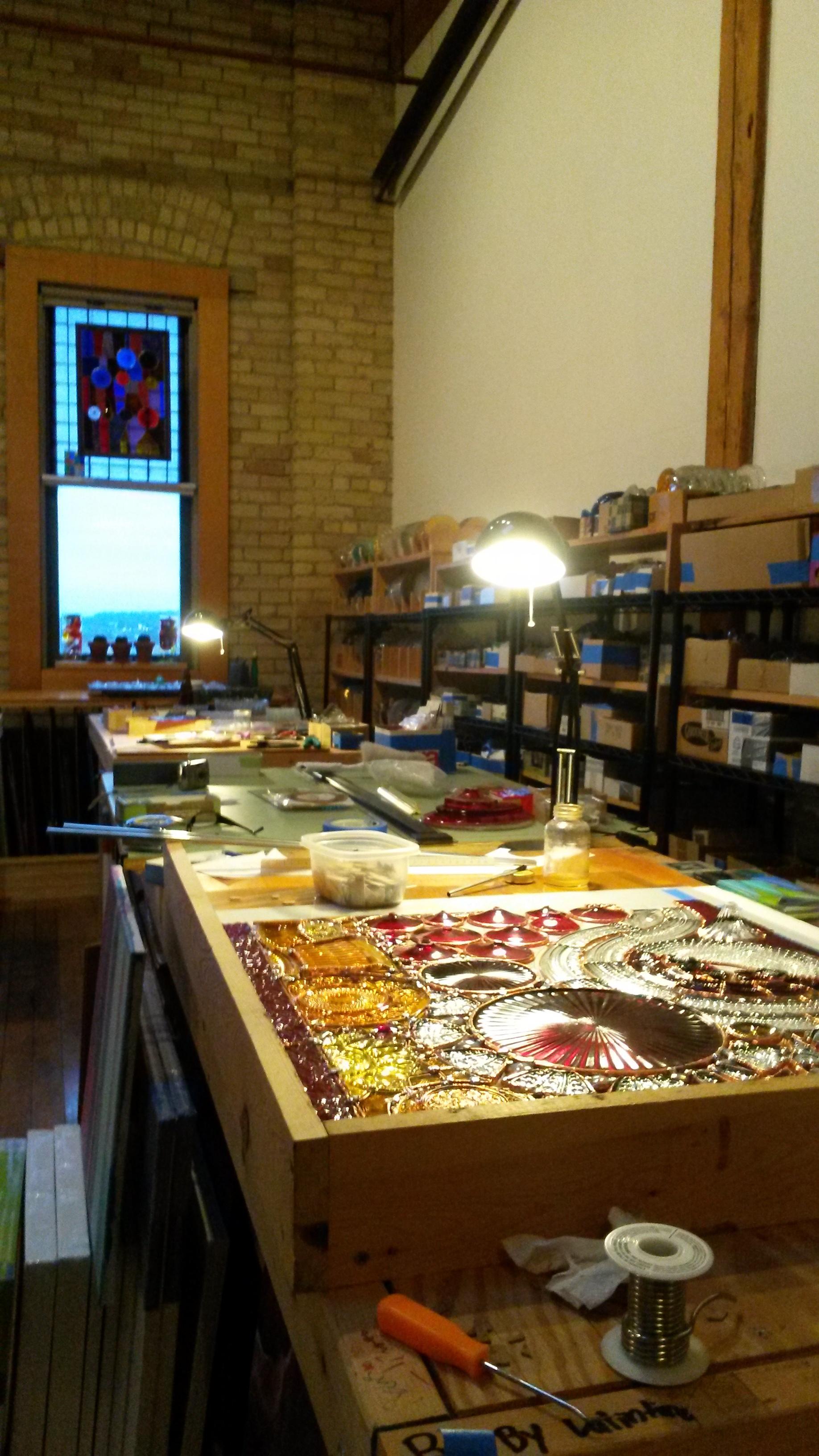 Studio of  Joe Krumplemann , Glass Artist and Painter