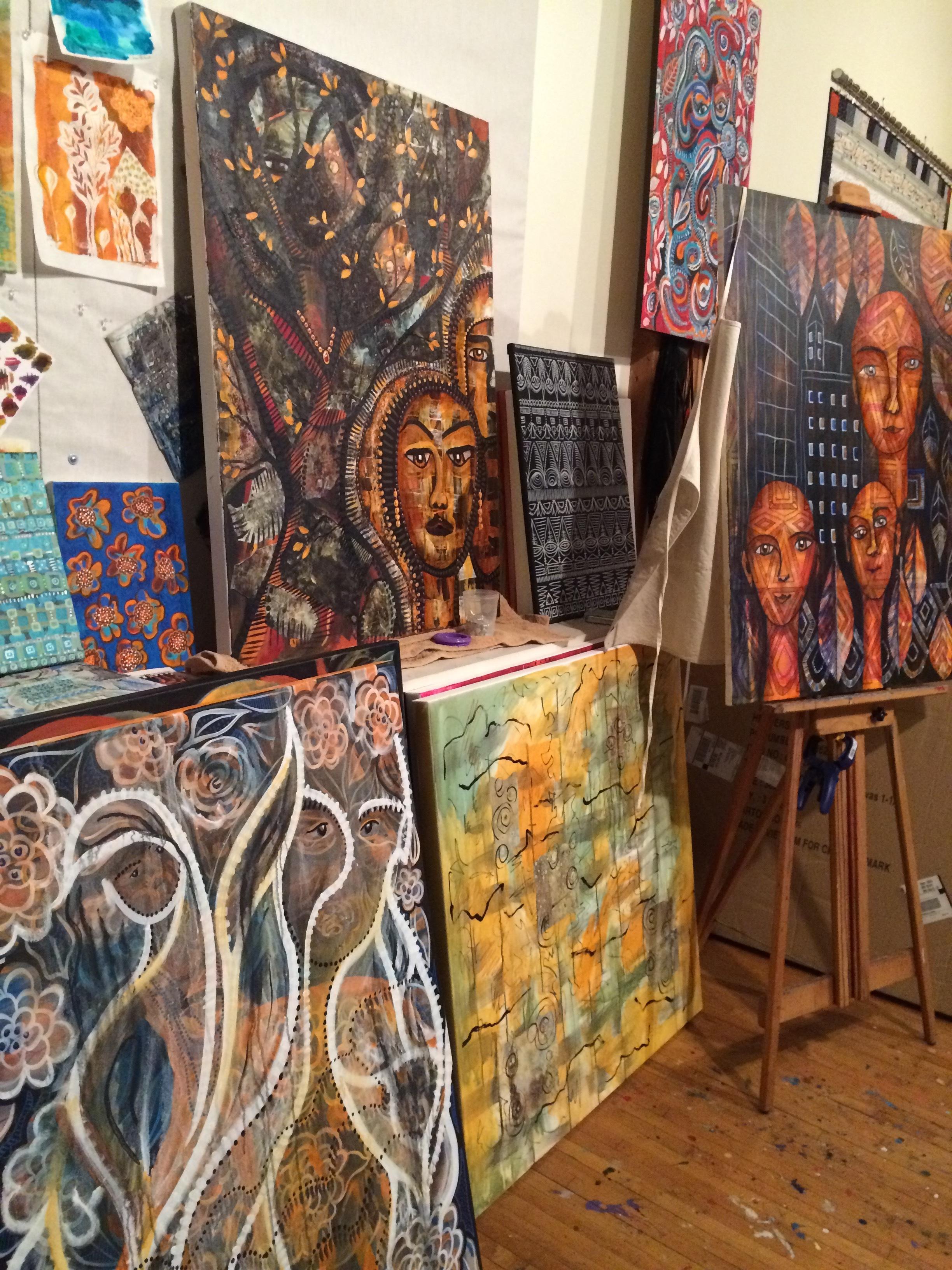 Studio of  Jamie Kalvestran , Surface Designer and Painter
