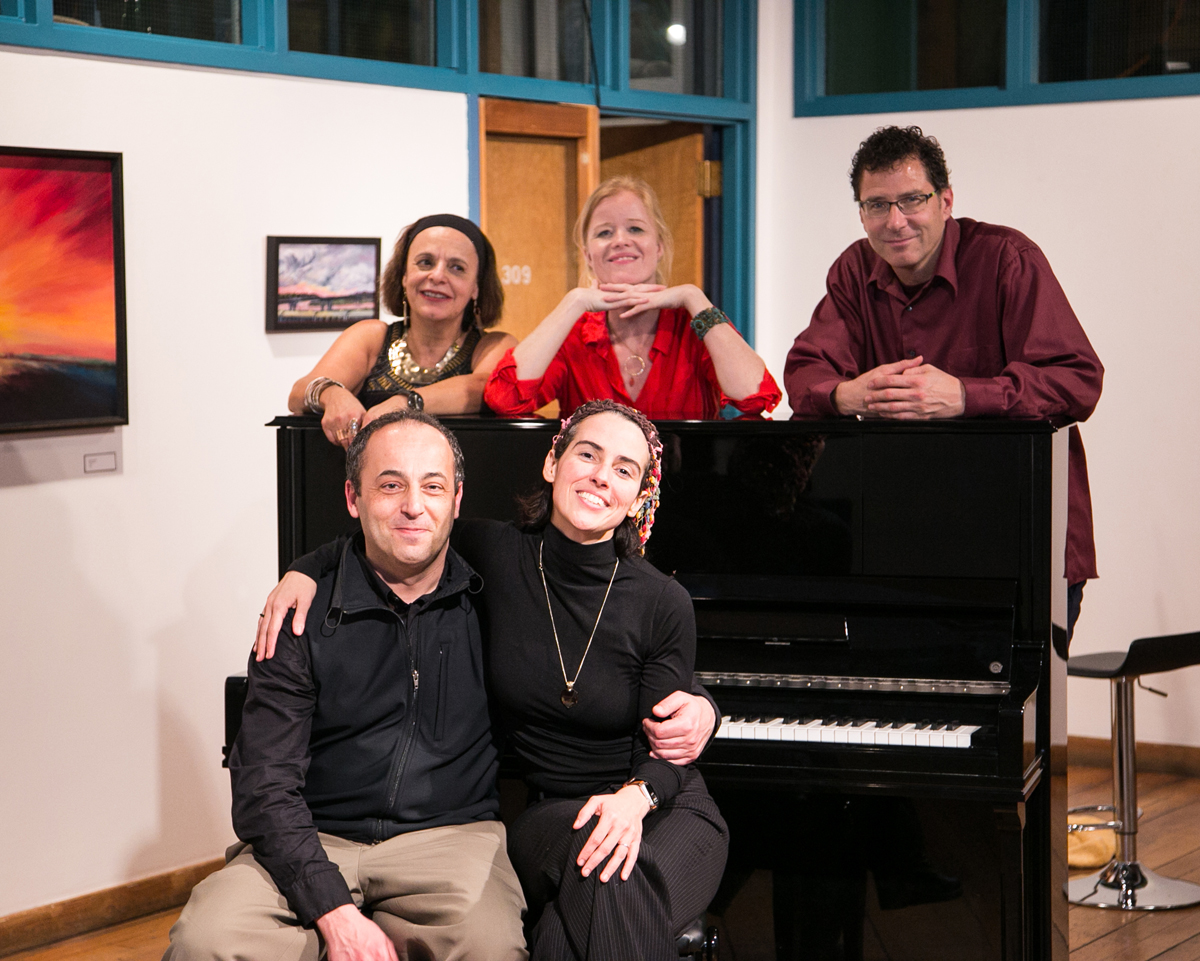 The musicians of the night   with Lowertown Classics director, guitarist  Eva Beneke   : Oleg Levin, Clarice Assad, Clea Galhano, Chris Olson.  Photo Credit:  Patrick Clancy