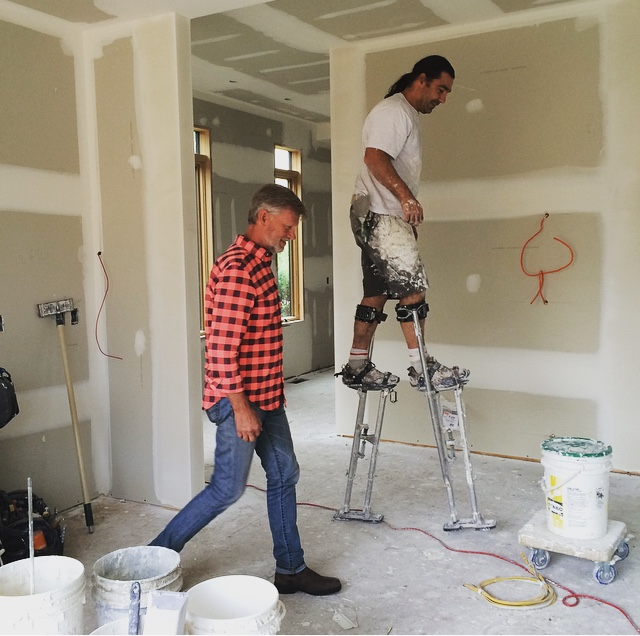 Gary and the Mudder - check out those stilts!