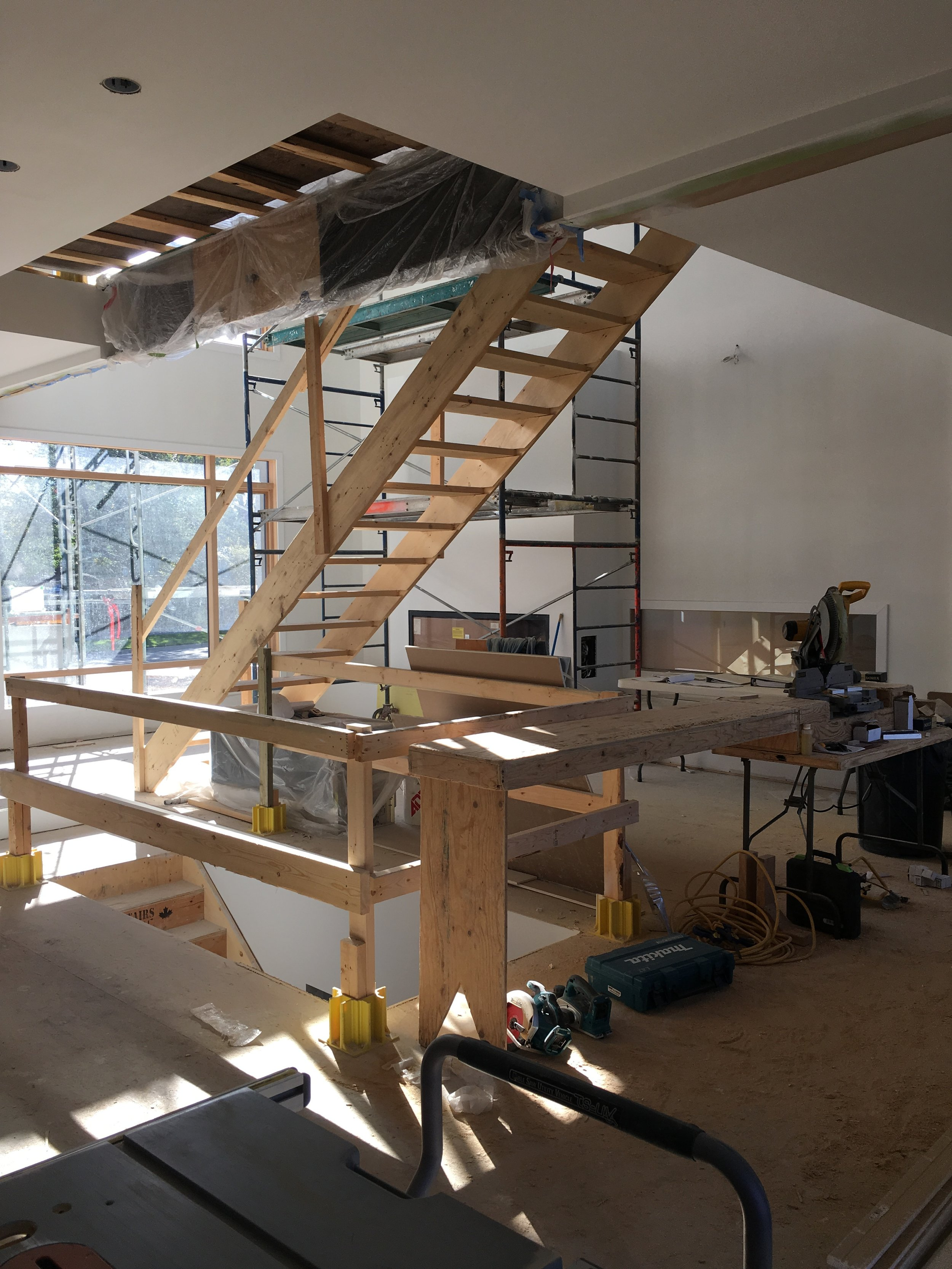 Interior for Bridgeland House getting trimmed out