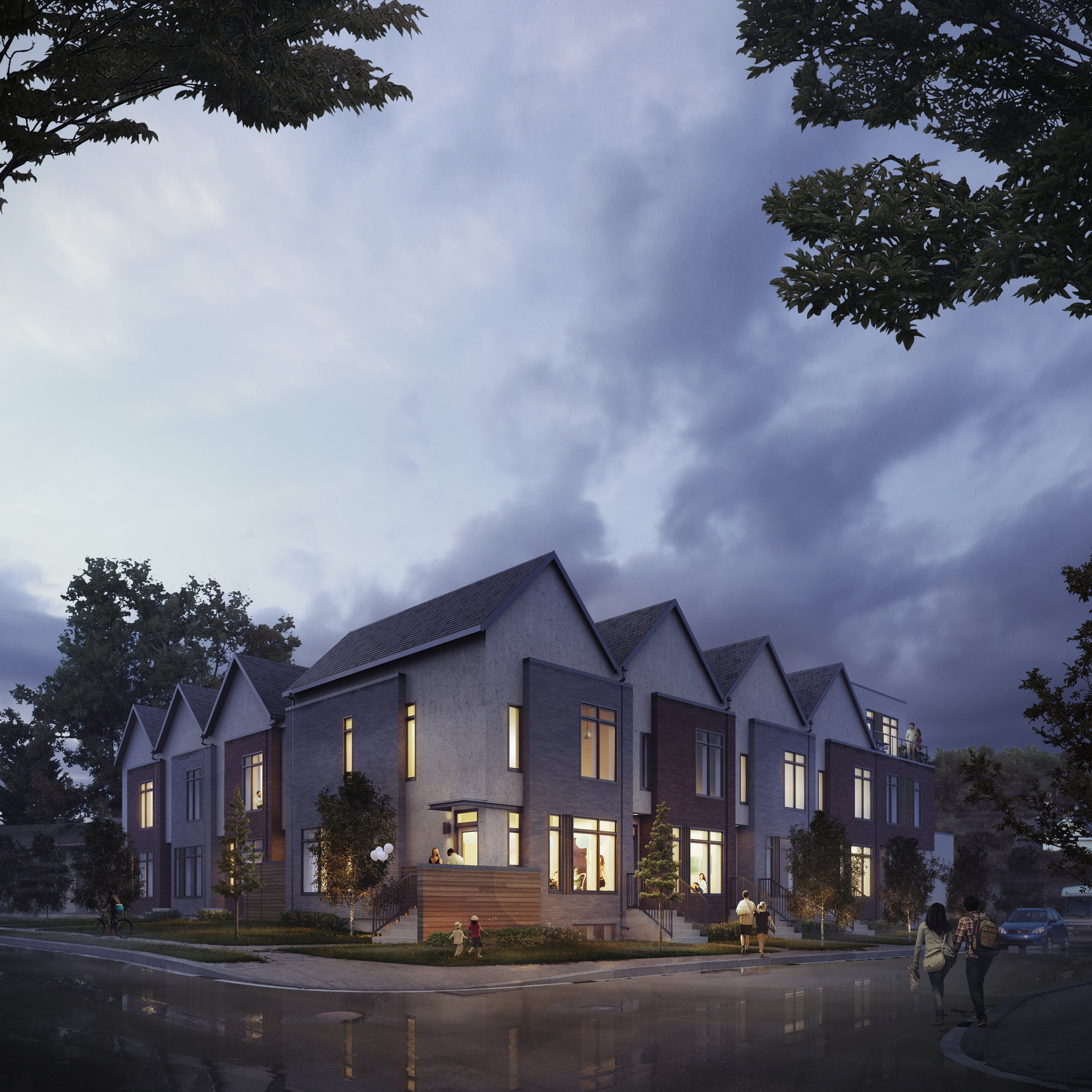 The award-winning eightplex in Mount Pleasant designed by Gravity Architecture