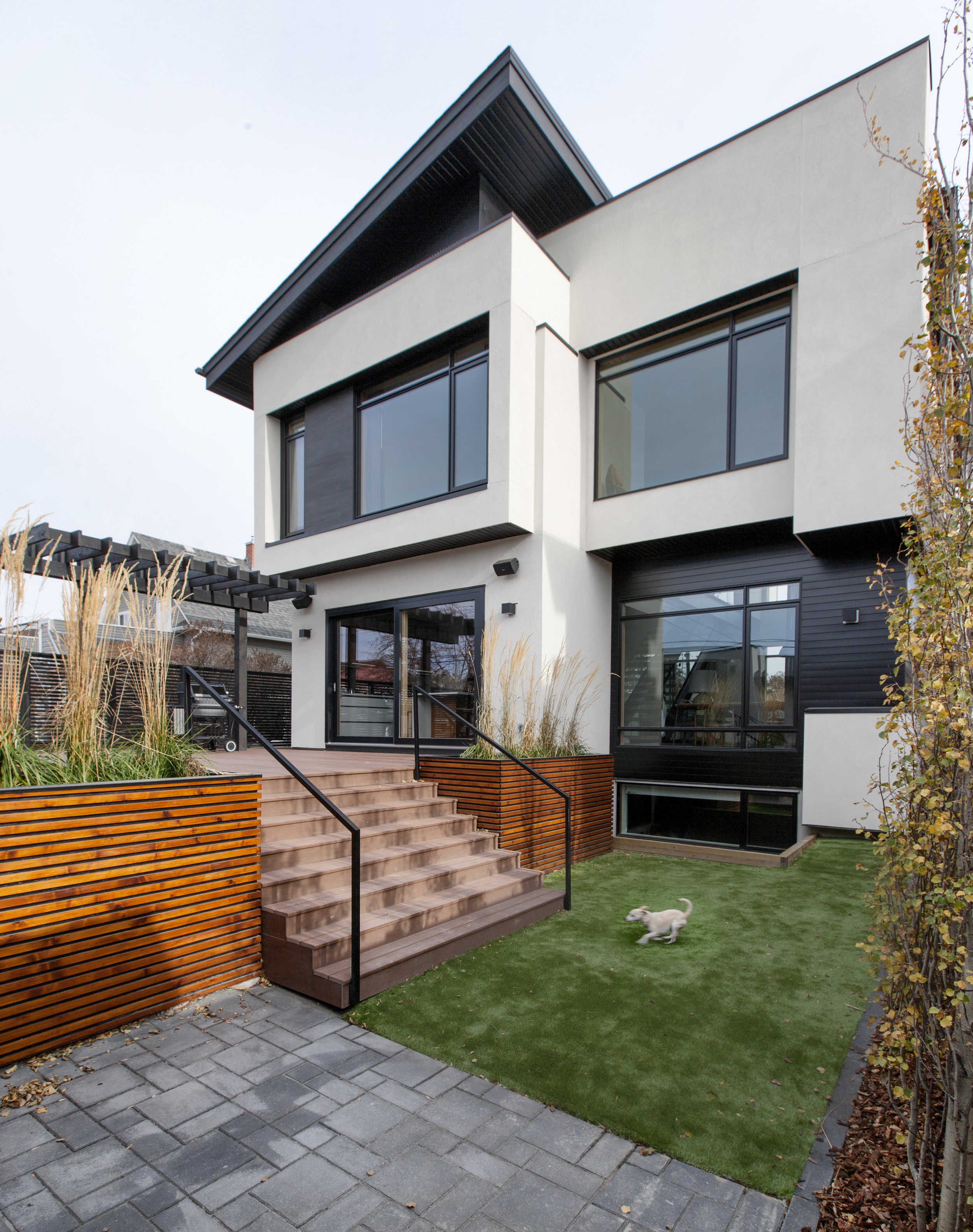 Bridgeland House Rear Yard and Elevation Photo by Gary Campbell
