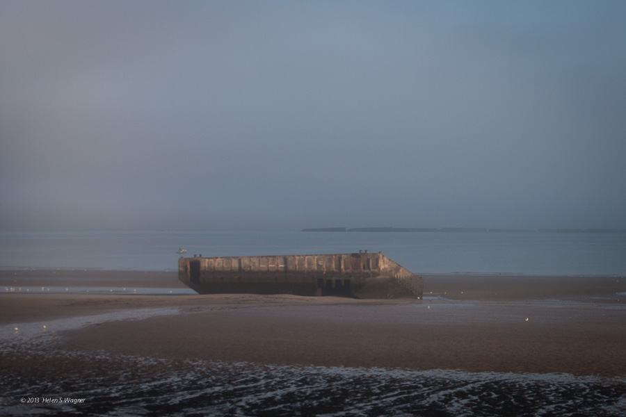 Gold Beach, caisson, mulberry harbor   Normandy, Franc  e
