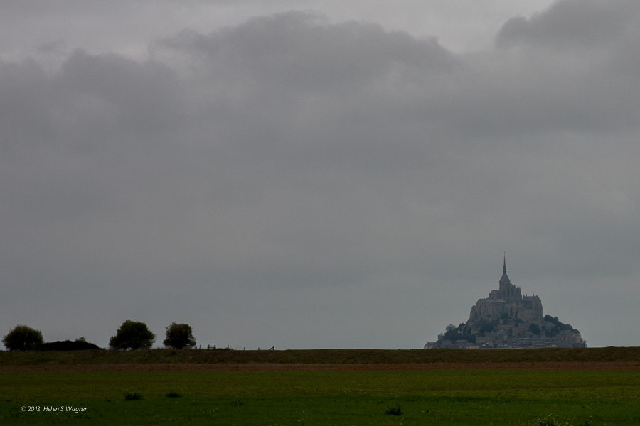 When approaching Mont St-Michel, the view is stunning.