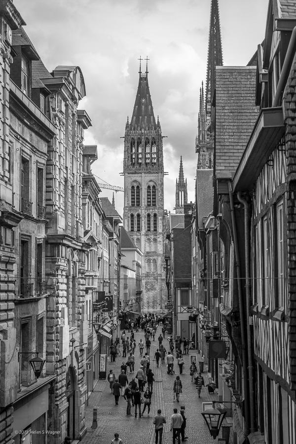 A view of Cathédrale Notre-Dame de Rouen  Rouen, France