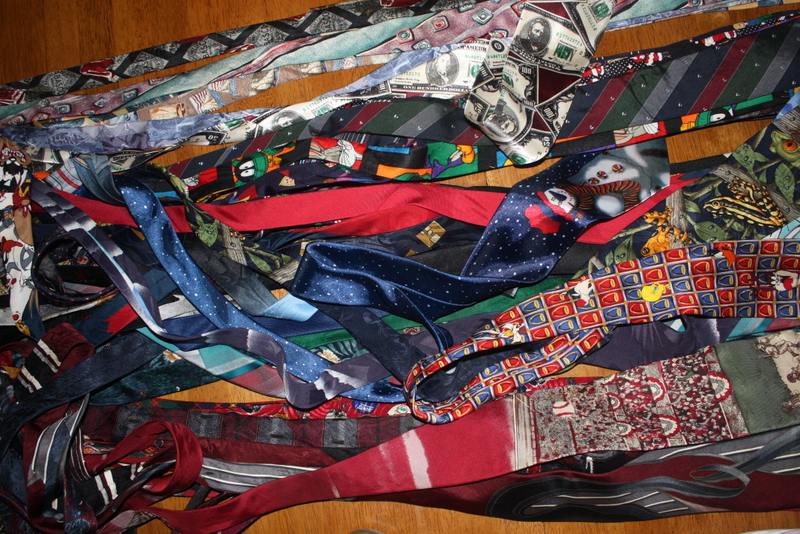 From approximately 40 mens ties....