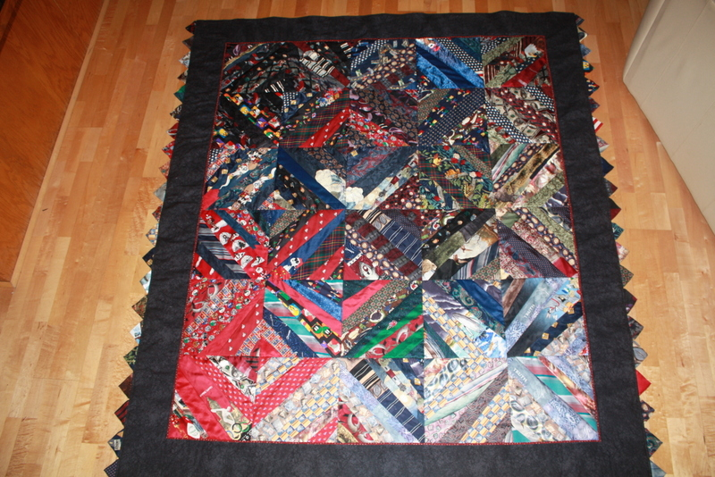 """to this beautiful 65"""" x 77"""" custom quilt."""
