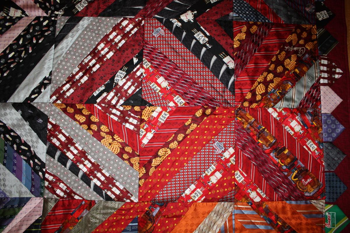 Chick-fil-A Necktie Quilt.