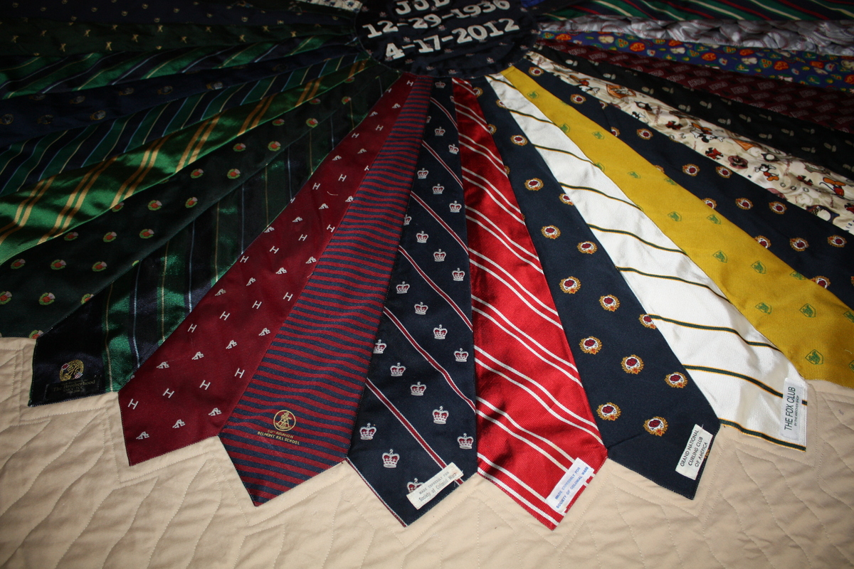 Dresden Quilt made using neckties