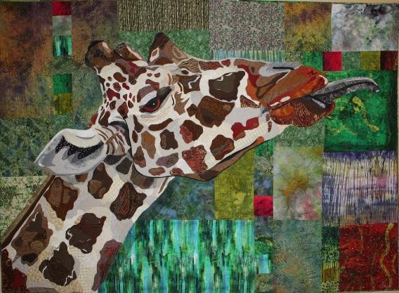 """Merman, The Vulnerable Giraffe 91"""" x 71"""""""