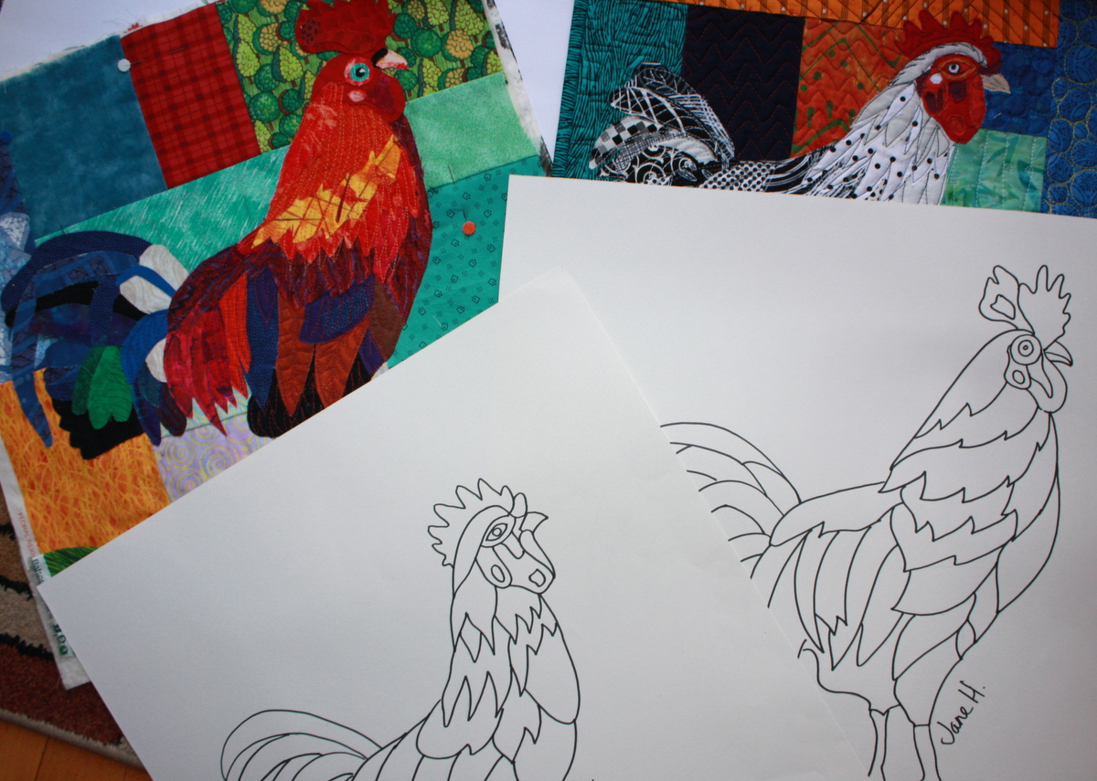 The Rocking Roosters patterns