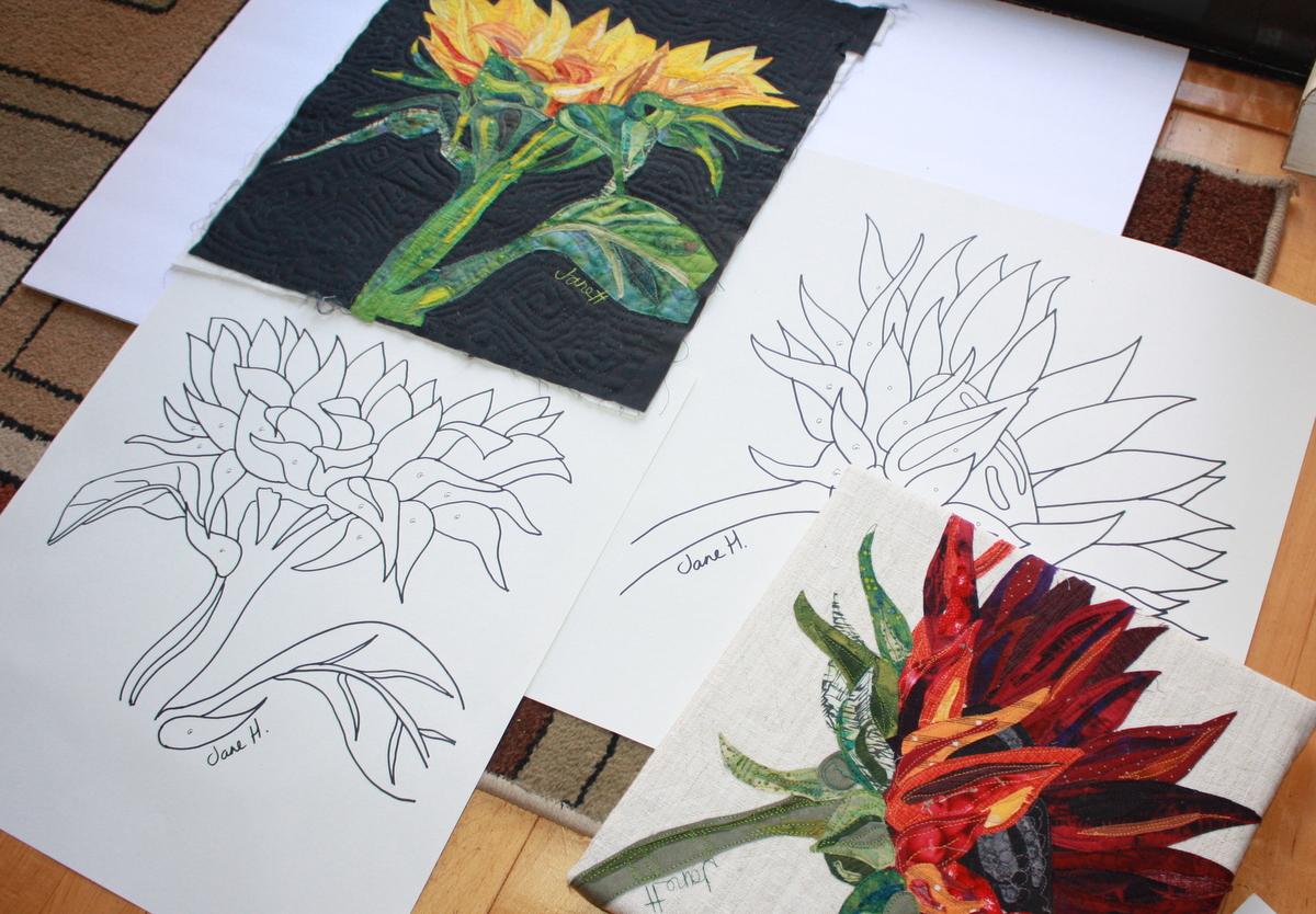 Sunlit Sunflowers, 3 hr class