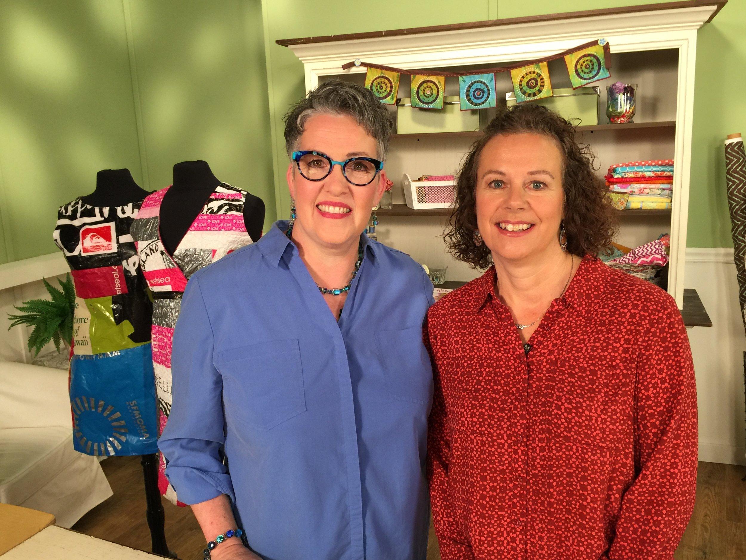 On set with Susan Brusker Knapp