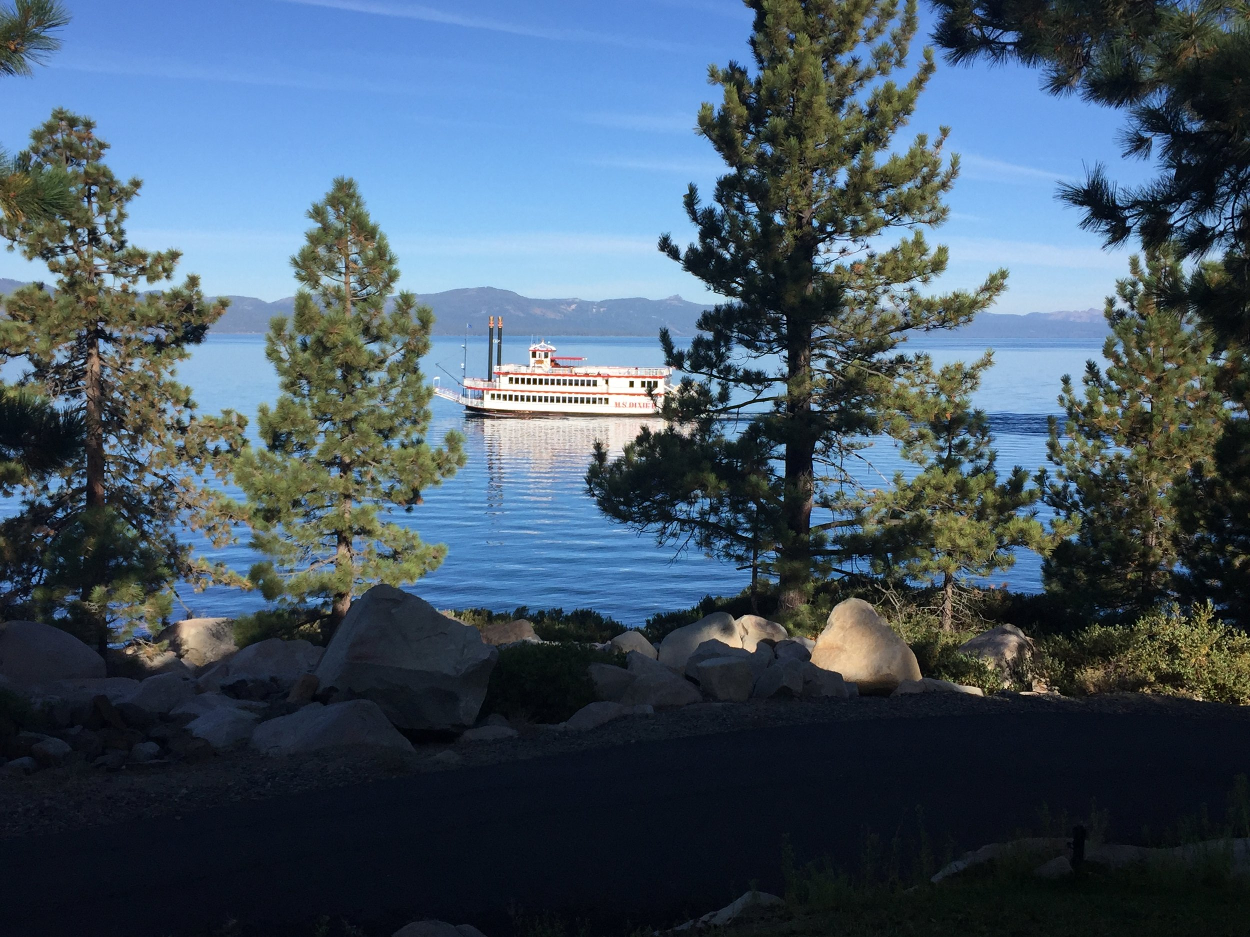 View from the dining hall at Zephyr Point, Lake Tahoe