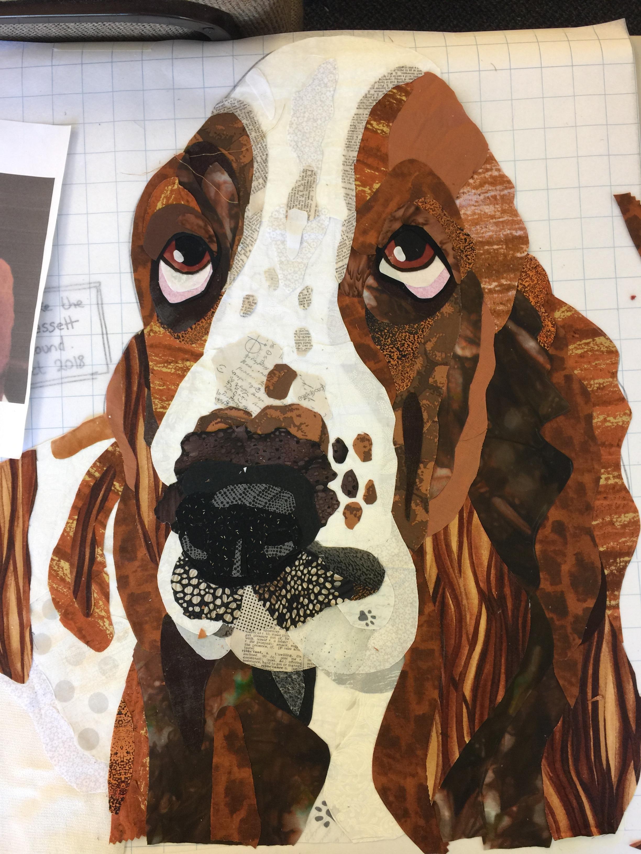 Working on another Bassett hound