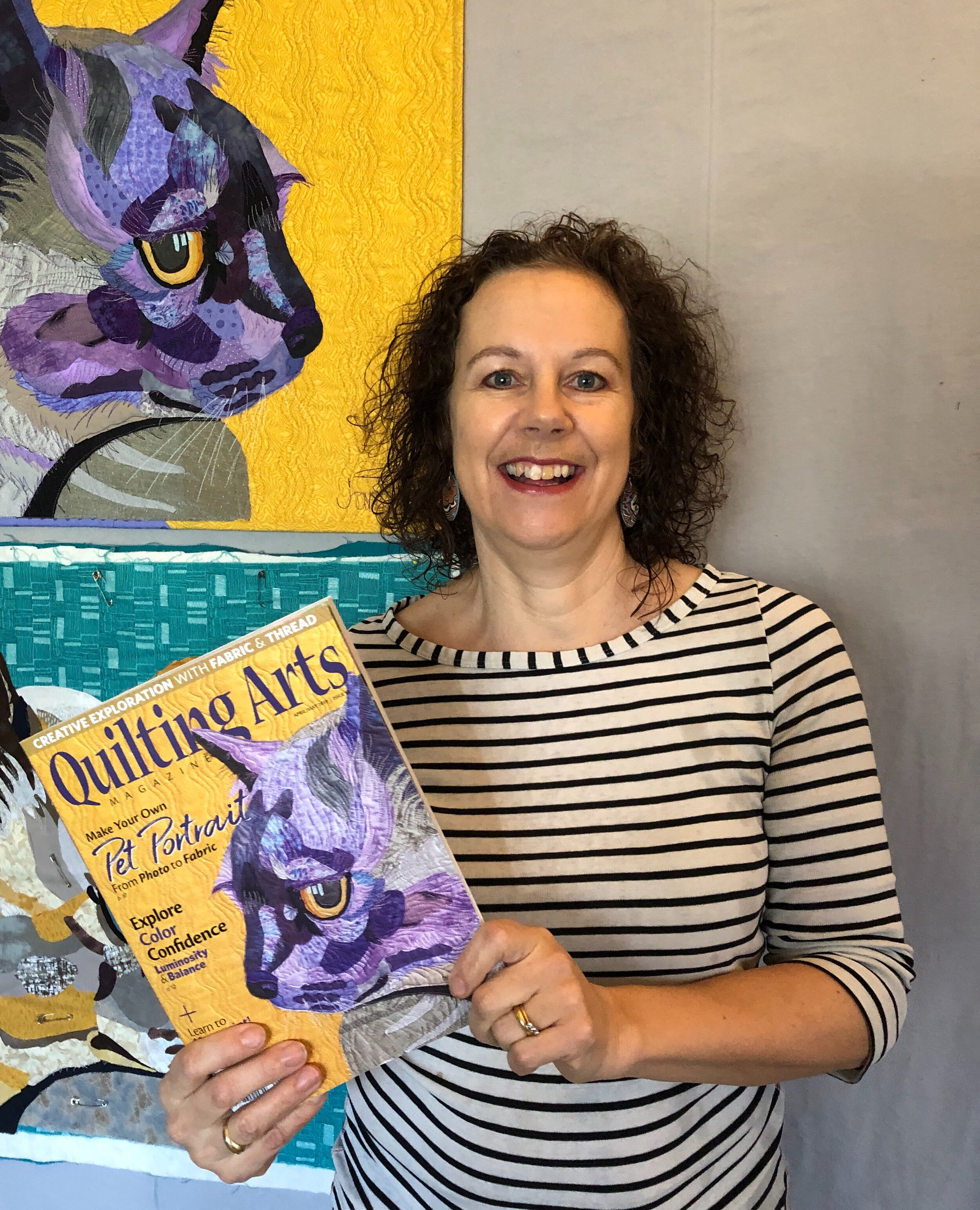 Me, Tilly and Quilting Arts magazine