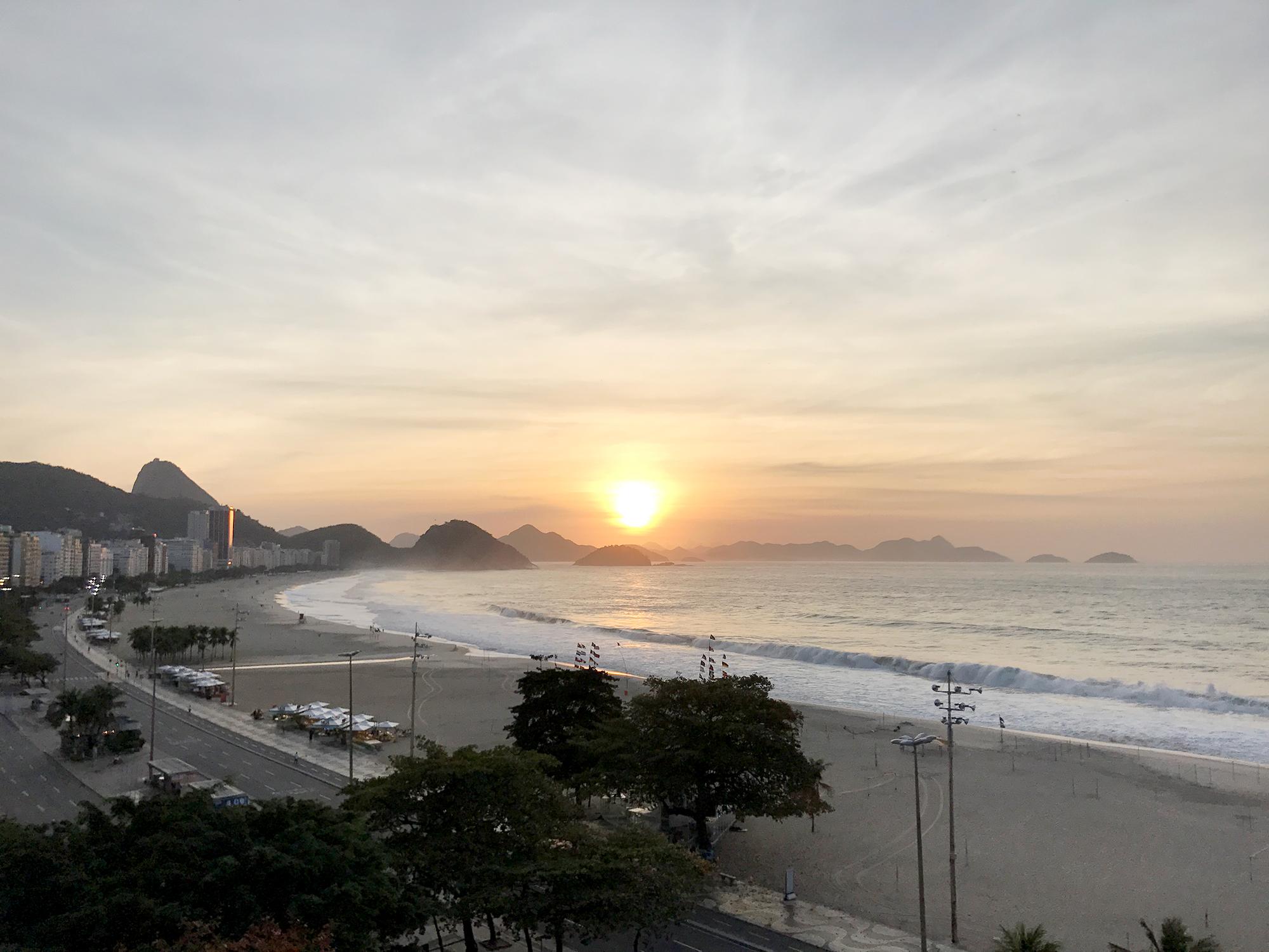Amanecer en Copacabana