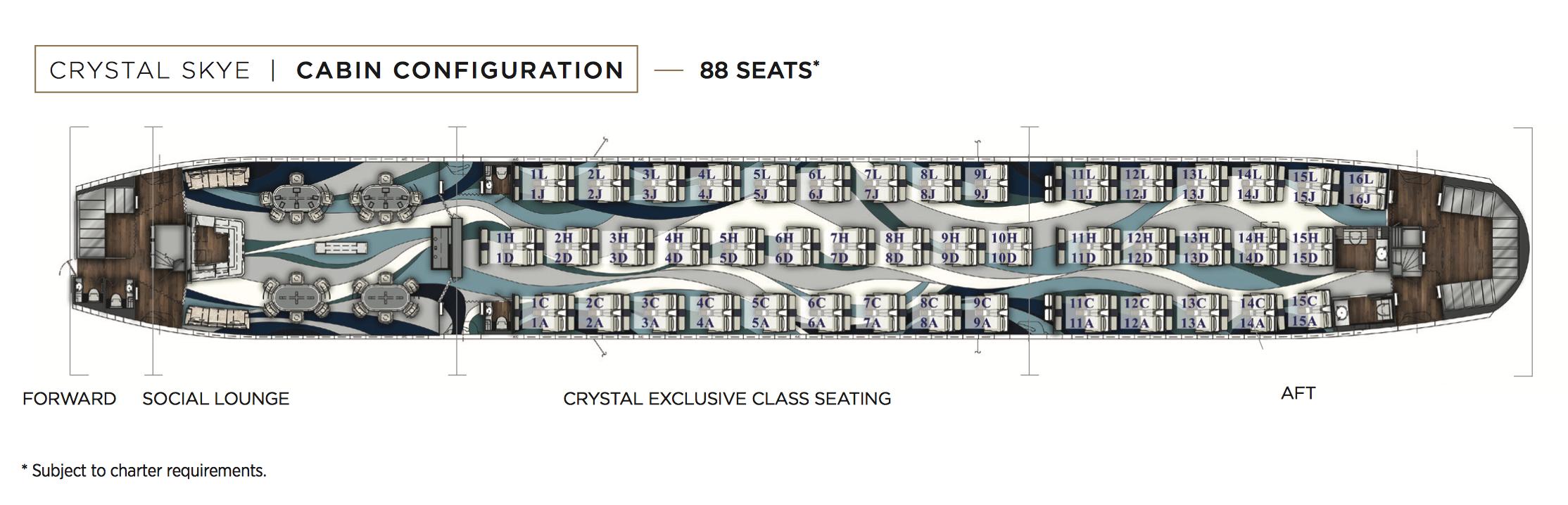 Mapa de asientos de Crystal Skye