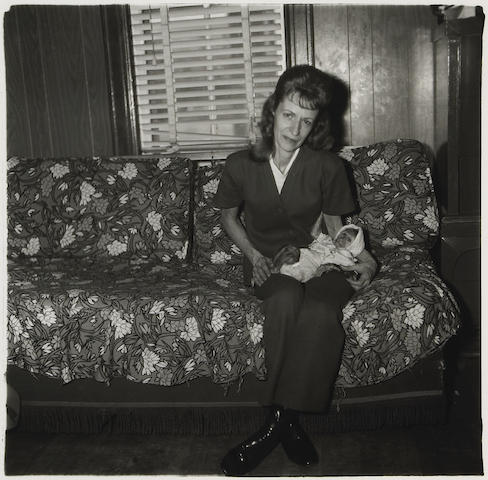 Diane Arbus A Woman with her baby monkey, N.J., 1971 Gelatin silver print, printed later by Neil Selkirk From a limited edition of 75 Image: 14 x 14 inches; Framed: 24.75 x 24.75 inches