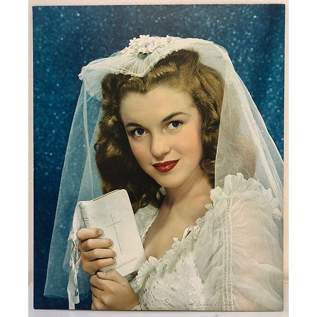 "SANTA MONICA AUCTIONS is thrilled over one of our newest acquisitions! This amazing Lot of 5 features a vintage Carbro print of Marilyn Monroe (aged 19) wearing her actual dress from her wedding when she was just 16 years old as well as the original model release form signed by photographer Richard C Miller and Marilyn under her original name Norma Jeane! A must have for any fan of Marilyn Monroe and old Hollywood!  Lot180A, Lot of 5 Richard C. Miller *** Norma Jeane Dougherty (Marilyn Monroe) in Wedding Dress, 1946 Vintage Carbro Print Signed in ink on recto; signed and annotated on verso Image: 15 x 12.5 inches; Framed: 28.5 x 24.5 inches *** Original Model Release Signed by Norma Jeane Dougherty with her Nebraska Ave., West LA address 4.25 x 5.5 inches *** Self Portrait with Norma Jeane, 1946 Vintage Gelatin Silver Print Annotated by Miller in Pencil on verso, ""Dick and Norma Jeane"" Image: 5 x 4 inches *** Norma Jeane Portfolio, 1946 Linen clamshell box containing 12 archival pigment prints of Norma Jeane Dougherty. Edition of 50 Signed in pencil on recto Images each 19.5 x 15 inches *** Prayer book owned by Margaret Dudley Miller, wife of Richard C. Miller Book: 5.875 x 4 x .5 inches *** Provenance: Estate of Richard C. Miller, J. Paul Getty Museum, and Craig Krull Gallery Estimate: $60,000/$80,000  #marilynmonroe #marilynmonroe💋 #marilyn #marilyn_monroe #marilynmonroefan #santamonica #hollywood #hollywoodglamour #oldhollywood #artauctions #artauctions #artauctionhouse #auctionhouse #photography #monroe #normajeane #normajeanedougherty #normajeanemortenson"