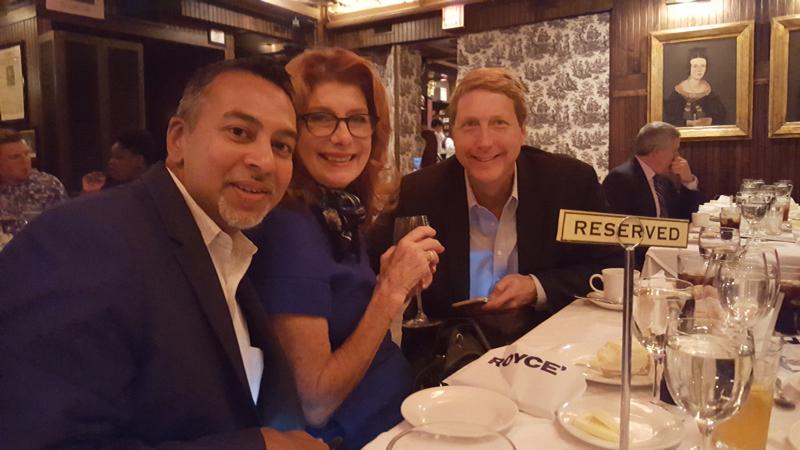 Pictured: Stephen Gheerow (Melinda & Bill Gates Foundation), Maureen Ashley (Music Express), Billy Bos (Best Western Hotels & Resorts)