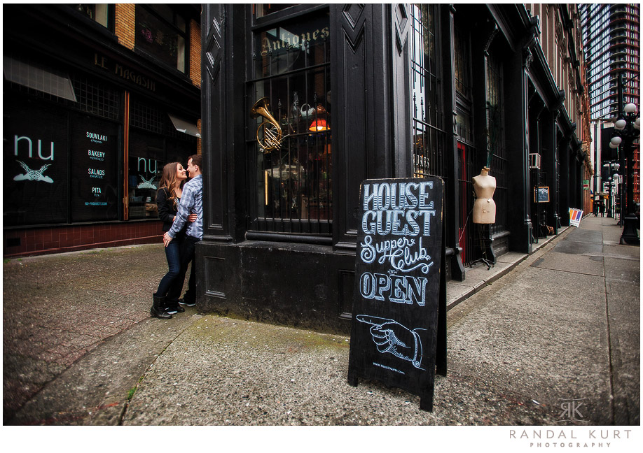 Gastown Engagement Session by Randal Kurt Photography