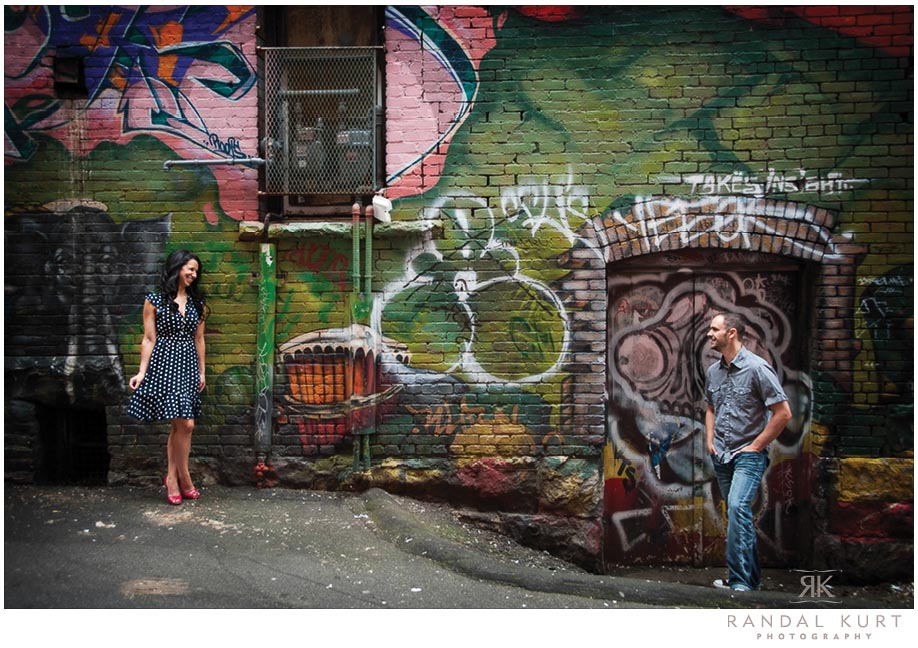 A Vibrant Engagement Session in Gastown, Vancouver