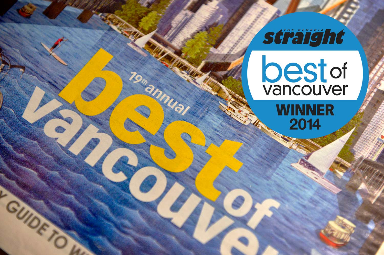 Awarded Best Wedding Photographer, The Georgia Straight's Best of Vancouver, 2014