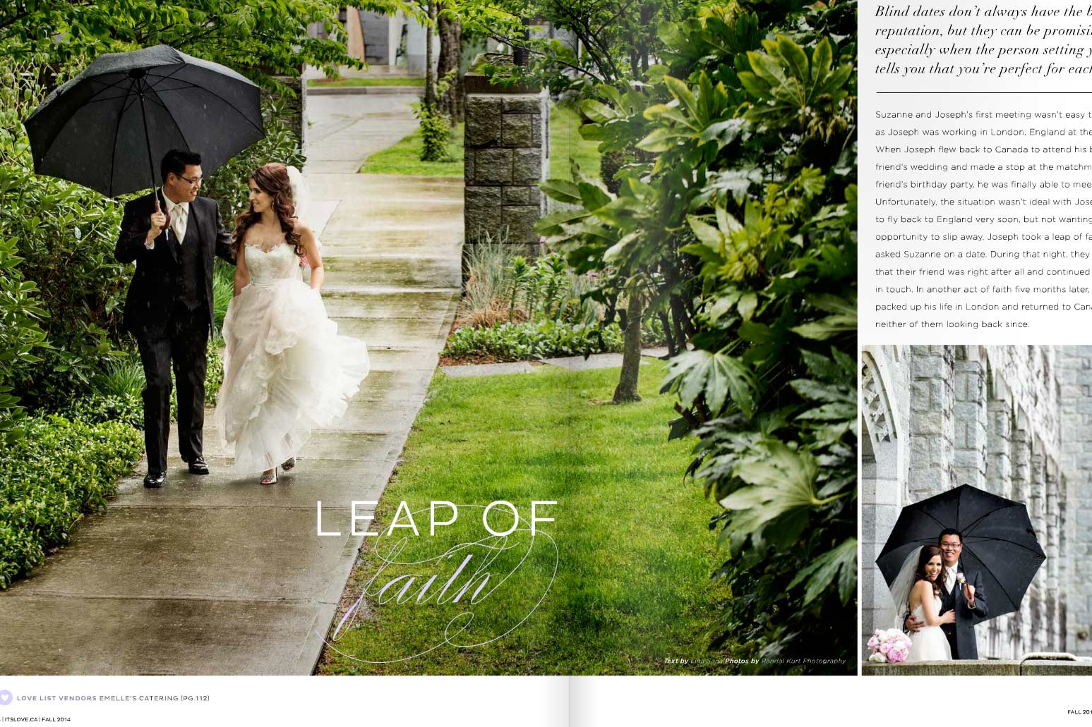 Featured in It's Love Magazine, Suzanne and Joe, Fall 2014