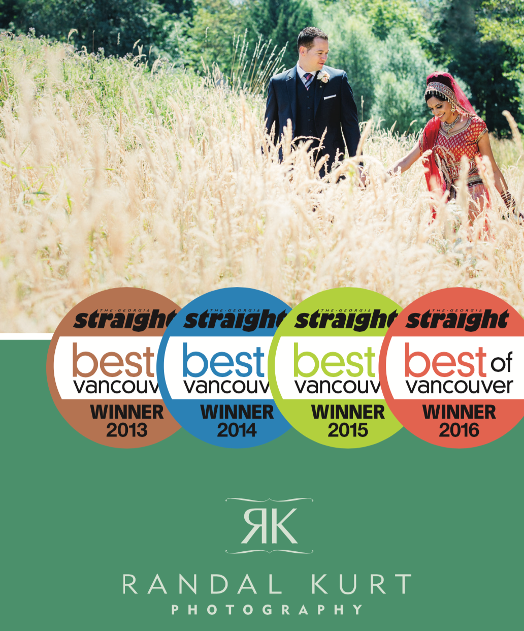 Awarded Best Professional Photographer, The Georgia Straight's Best of Vancouver, 2016