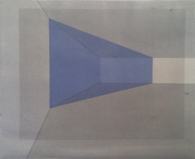 Andrew Alcasid.Square in the Room. Lithograph on paper,2012.