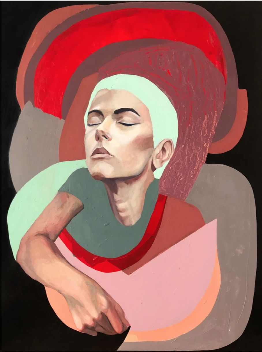 Cataphant | (Catalina Bellizzi-Itiola)     Womb 3   Oil on wood panel  48 x 36 inches