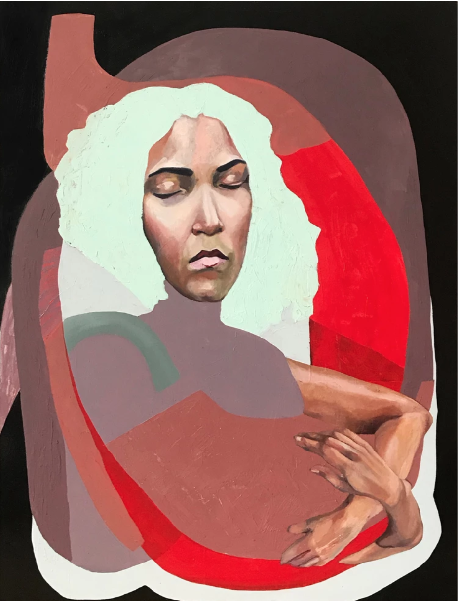 Cataphant | (Catalina Bellizzi-Itiola)     Womb 2   Oil on wood panel  40 x 30 inches