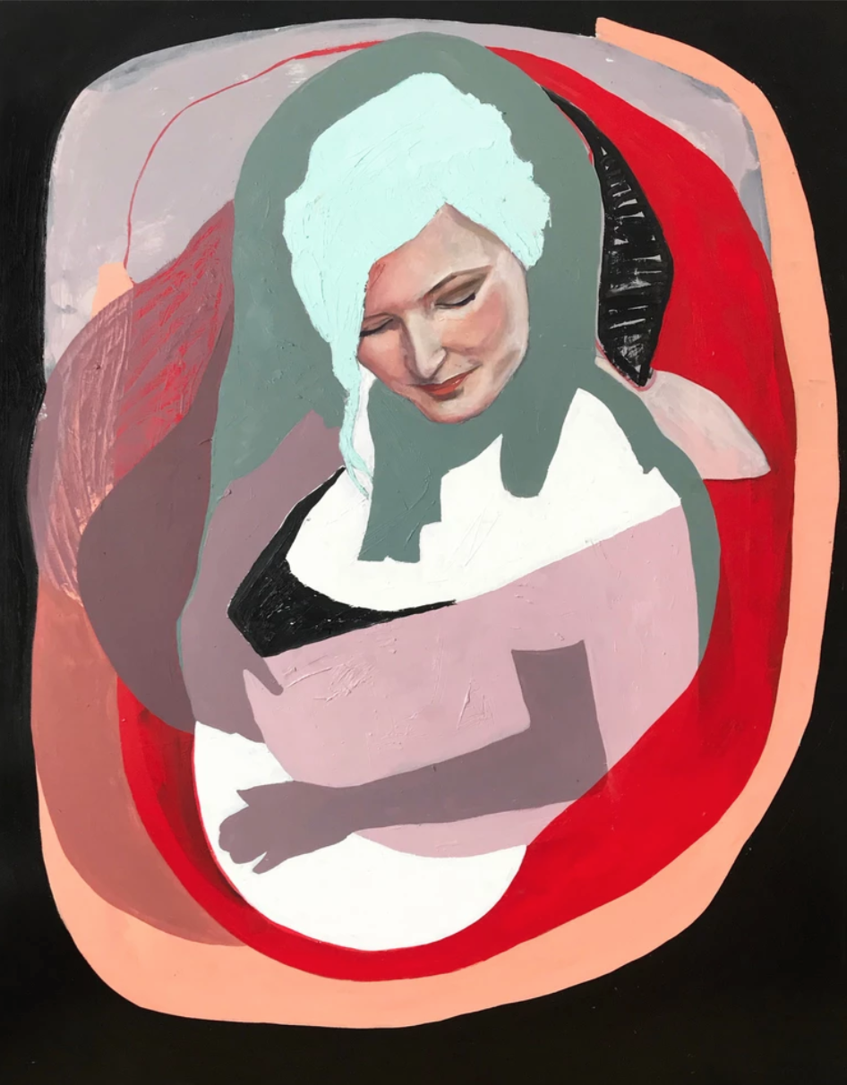 Cataphant | (Catalina Bellizzi-Itiola)     Womb 1   Oil on wood panel  48 x 36 inches
